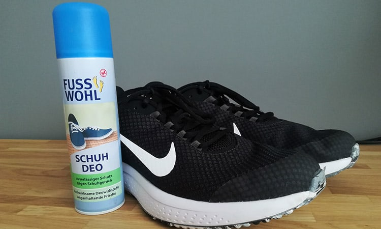 nike shoes next to a shoe freshener