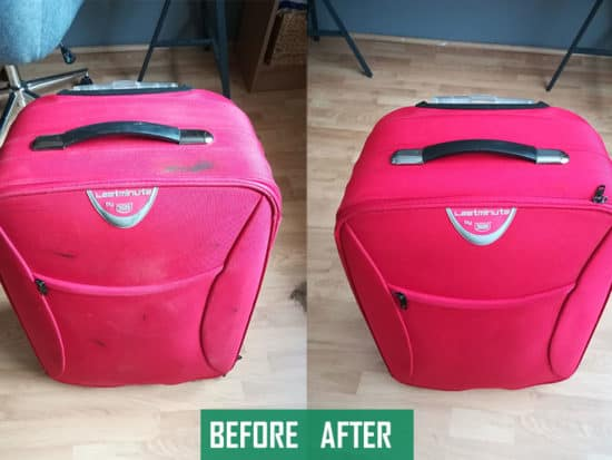 How to clean luggage before and after