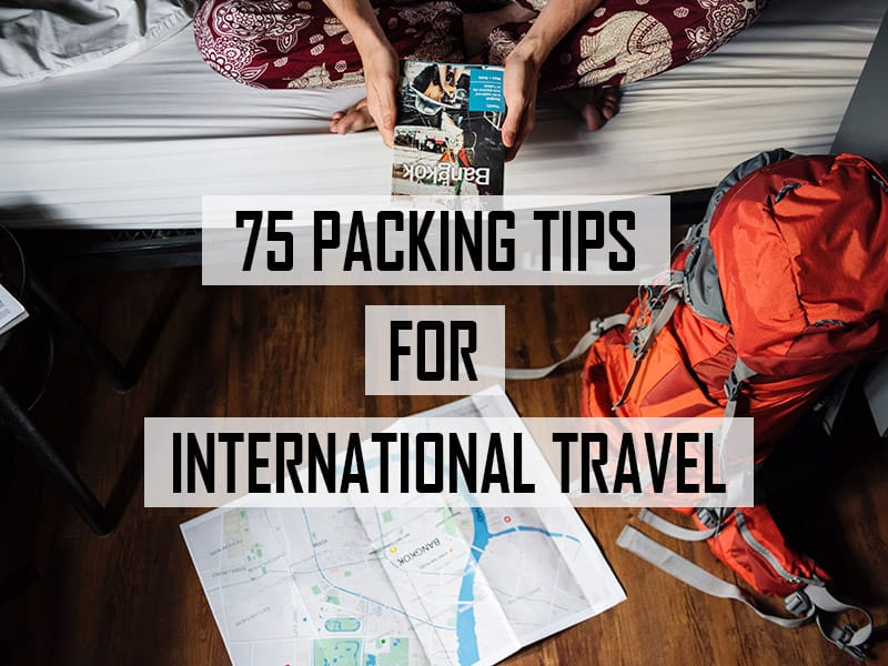 75 packing tips for international travel cover image