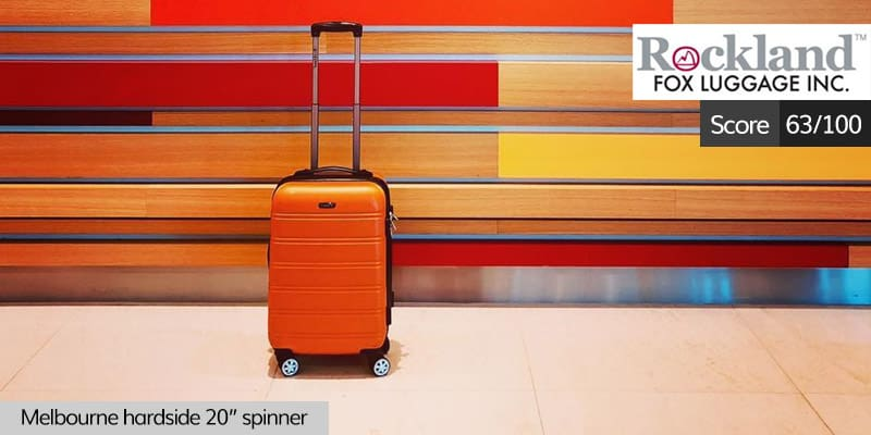 rockland luggage review: 63 out of 100