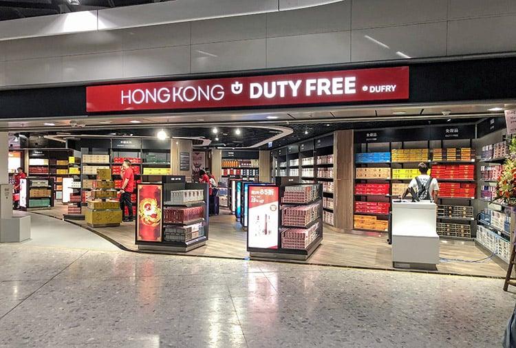 duty free airport shop in hong kong