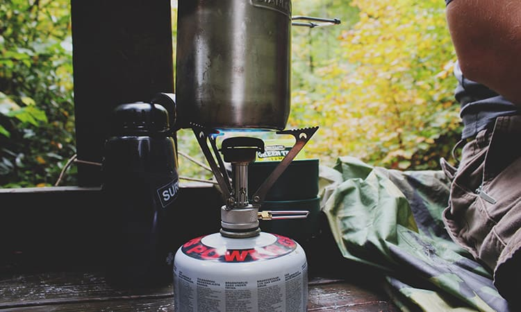 fire stove and aluminum kettle for camping