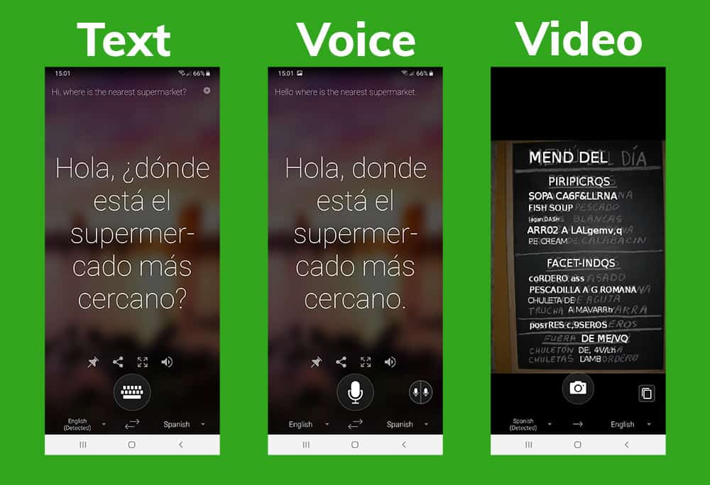 microsoft translator app screenshots