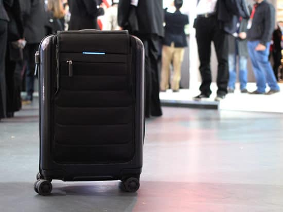 bluesmart smart luggage in airport