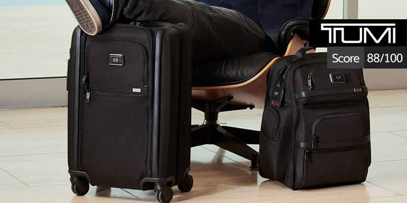 tumi luggage review: 87 out of 100